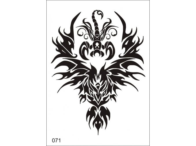 Airbrush tetoválási sablon egyetlen használatra V071