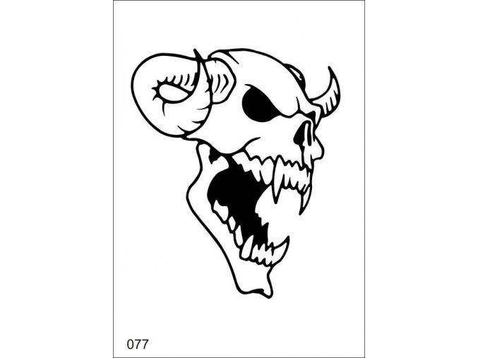 Airbrush tetoválási sablon egyetlen használatra V077