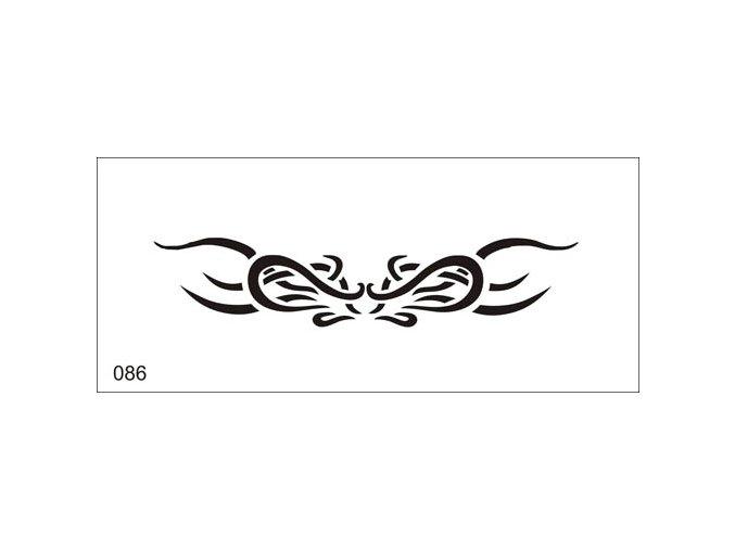 Airbrush tetoválási sablon egyetlen használatra V086