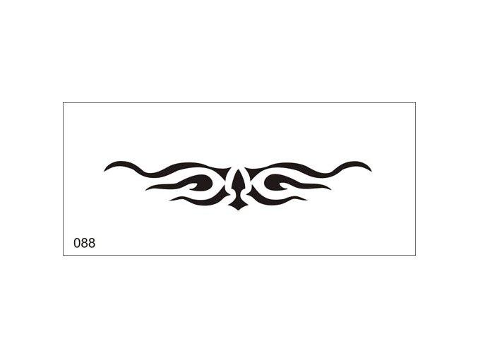 Airbrush tetoválási sablon egyetlen használatra V088
