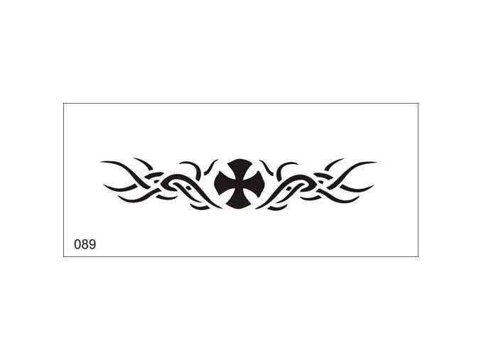 Airbrush tetoválási sablon egyetlen használatra V089