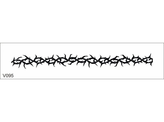 Airbrush tetoválási sablon egyetlen használatra V095