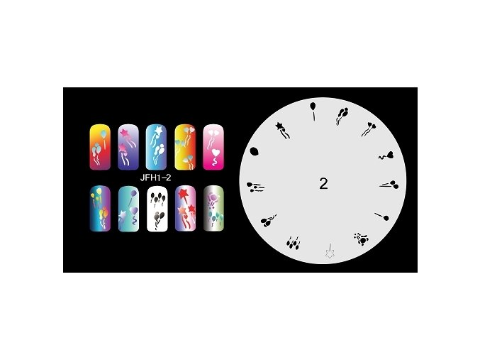 Fengda JFH01-002 (airbrush nail art) körömsablon