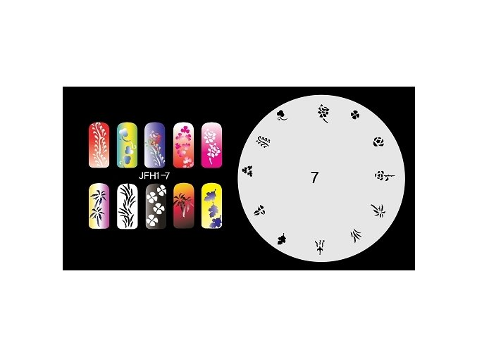 Fengda  JFH01-007 (airbrush nail art) körömsablon