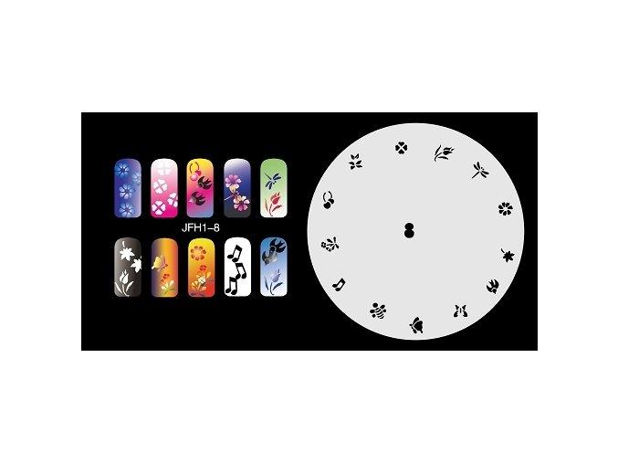 Fengda  JFH01-008 (airbrush nail art) körömsablon