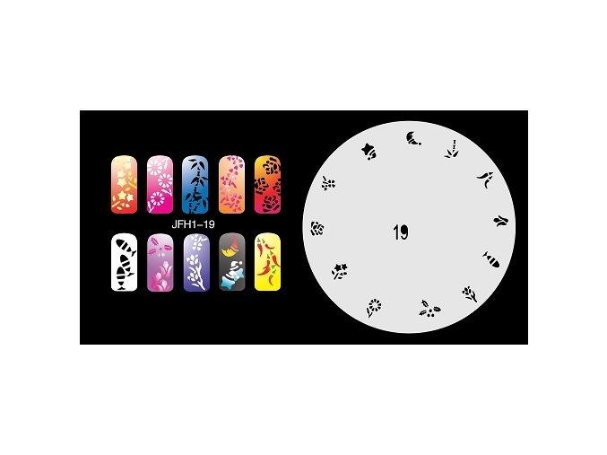 Fengda  JFH01-019 (airbrush nail art) körömsablon