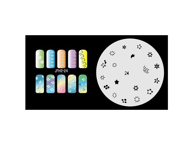 Fengda JFH02-024 (airbrush nail art) körömsablon