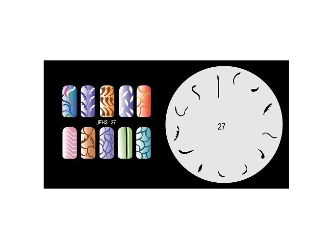 Fengda  JFH02-027 (airbrush nail art) körömsablon