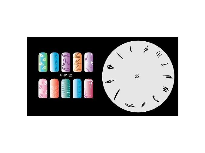 Fengda  JFH02-032 (airbrush nail art) körömsablon
