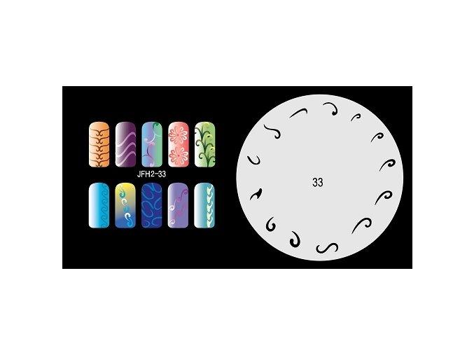 Fengda  JFH02-033 (airbrush nail art) körömsablon