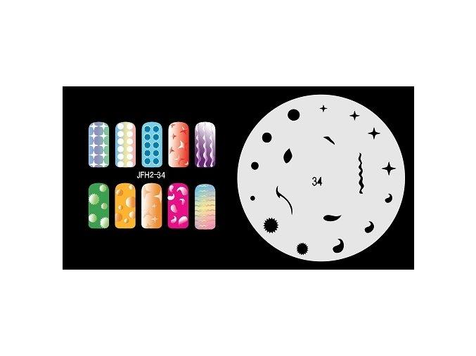 Fengda  JFH02-034 (airbrush nail art) körömsablon