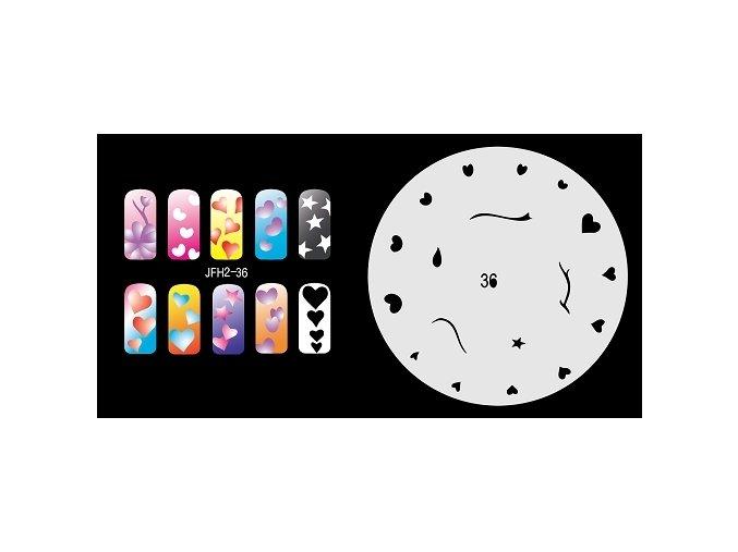 Fengda  JFH02-036 (airbrush nail art) körömsablon