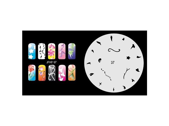 Fengda  JFH02-037 (airbrush nail art) körömsablon