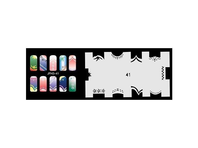 Fengda  JFH03-041 (airbrush nail art) körömsablon