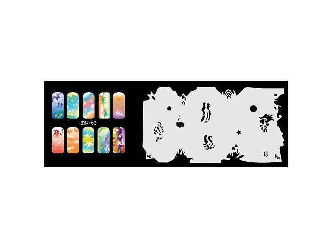 Fengda  JFH04-063 (airbrush nail art) körömsablon