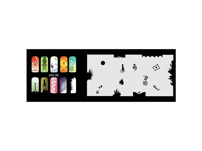 Fengda  JFH04-065 (airbrush nail art) körömsablon