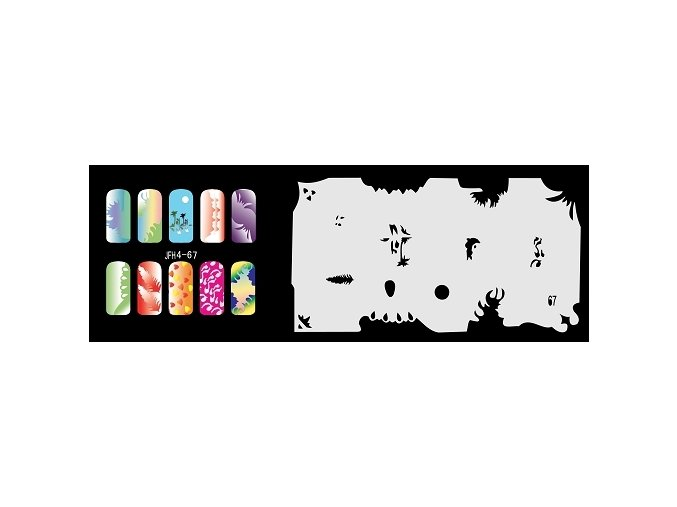 Fengda  JFH04-067 (airbrush nail art) körömsablon