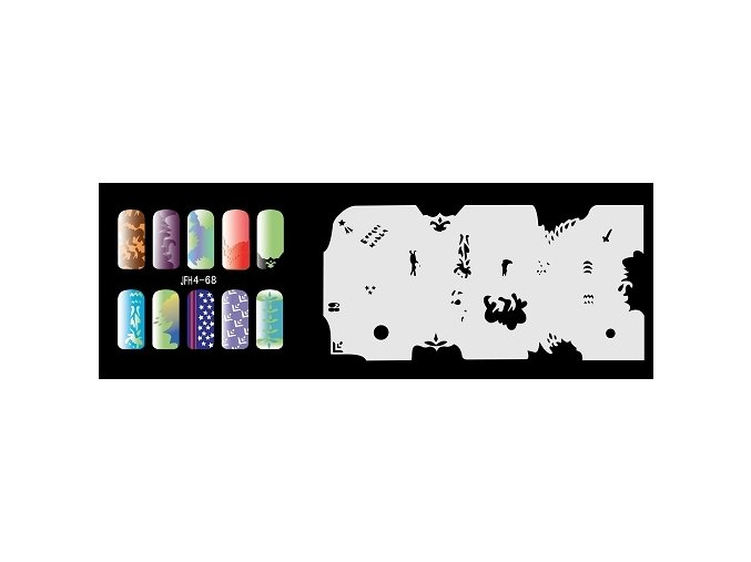 Fengda  JFH04-068 (airbrush nail art) körömsablon