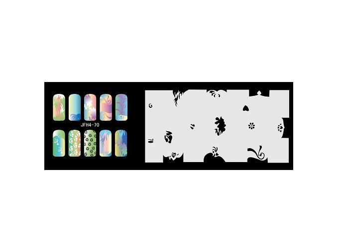 Fengda  JFH04-070 (airbrush nail art) körömsablon