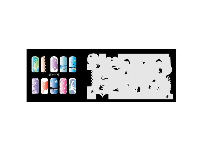 Fengda  JFH04-078 (airbrush nail art) körömsablon