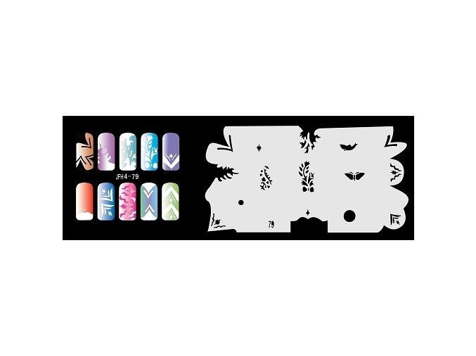 Fengda  JFH04-079 (airbrush nail art) körömsablon