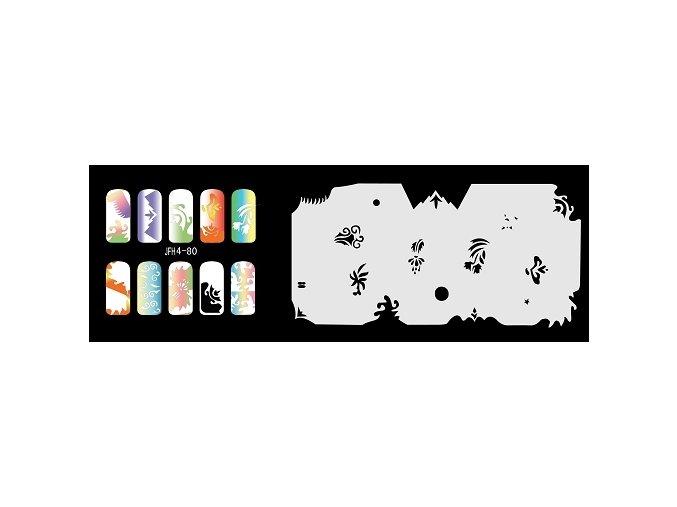 Fengda  JFH04-080 (airbrush nail art) körömsablon