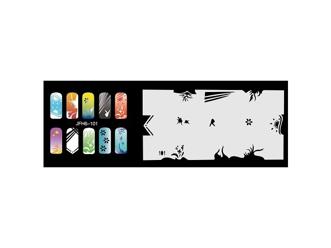 Fengda  JFH06-101 (airbrush nail art) körömsablon