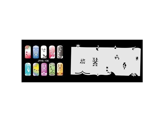 Fengda  JFH06-106 (airbrush nail art) körömsablon