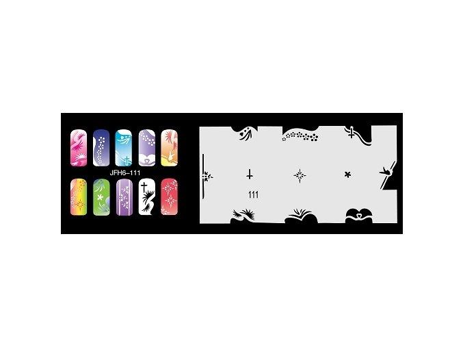 Fengda  JFH06-111 (airbrush nail art) körömsablon