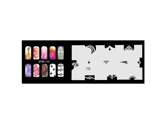 Fengda  JFH06-113 (airbrush nail art) körömsablon