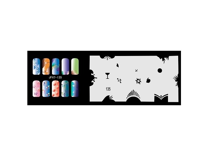 Fengda  JFH07-135 (airbrush nail art) körömsablon