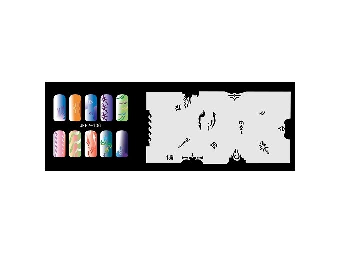 Fengda  JFH07-136 (airbrush nail art) körömsablon
