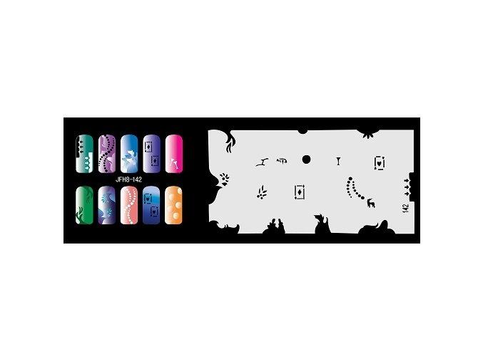 Fengda  JFH08-142 (airbrush nail art) körömsablon