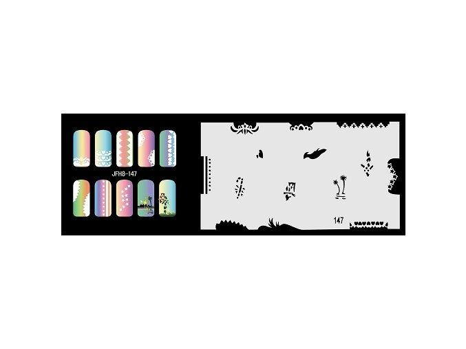 Fengda  JFH08-147 (airbrush nail art) körömsablon