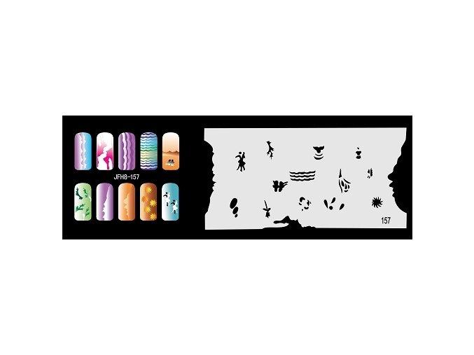 Fengda  JFH08-157 (airbrush nail art) körömsablon