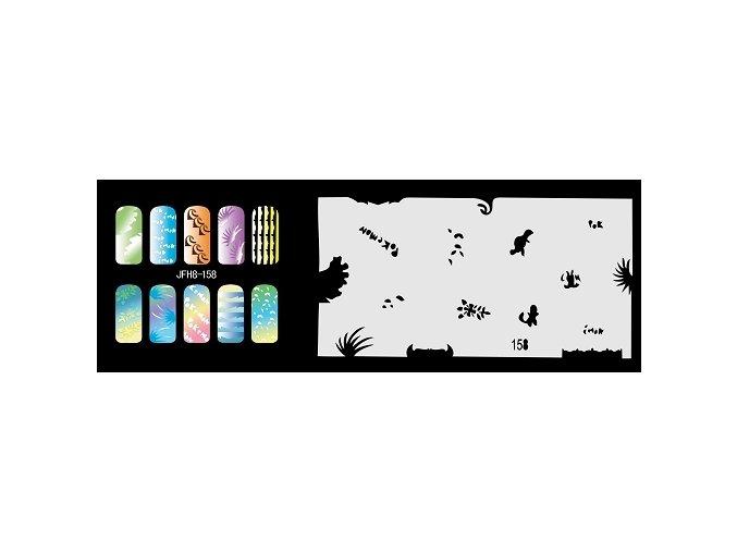 Fengda  JFH08-158 (airbrush nail art) körömsablon