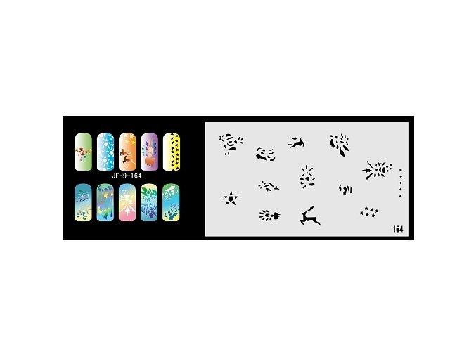 Fengda  JFH09-164 (airbrush nail art) körömsablon