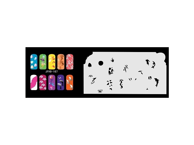 Fengda  JFH09-167 (airbrush nail art) körömsablon
