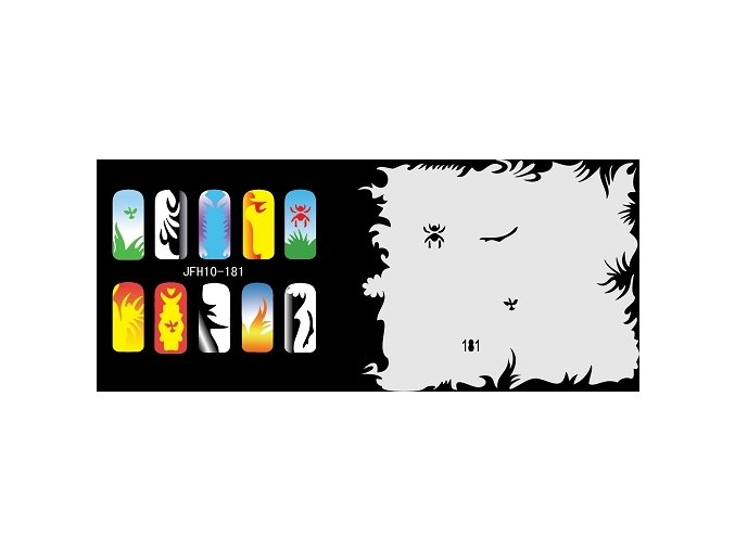 Fengda  JFH10-181 (airbrush nail art) körömsablon