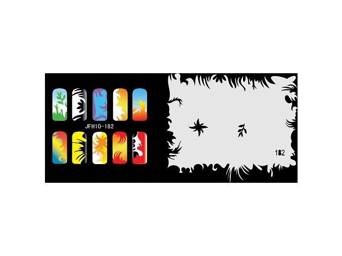 Fengda  JFH10-182 (airbrush nail art) körömsablon