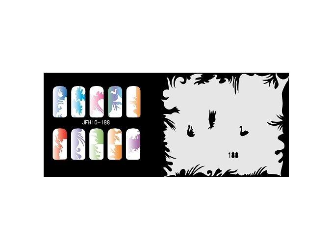 Fengda  JFH10-188 (airbrush nail art) körömsablon