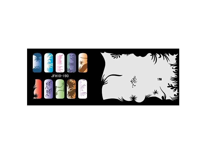 Fengda  JFH10-190 (airbrush nail art) körömsablon