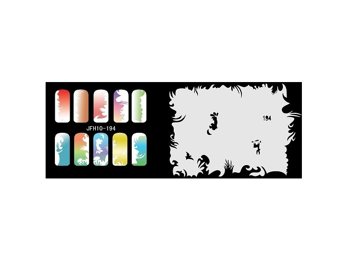 Fengda  JFH10-194 (airbrush nail art) körömsablon