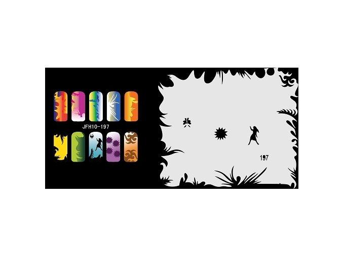 Fengda  JFH10-197 (airbrush nail art) körömsablon