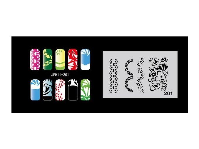 Fengda  JFH11-201 (airbrush nail art) körömsablon
