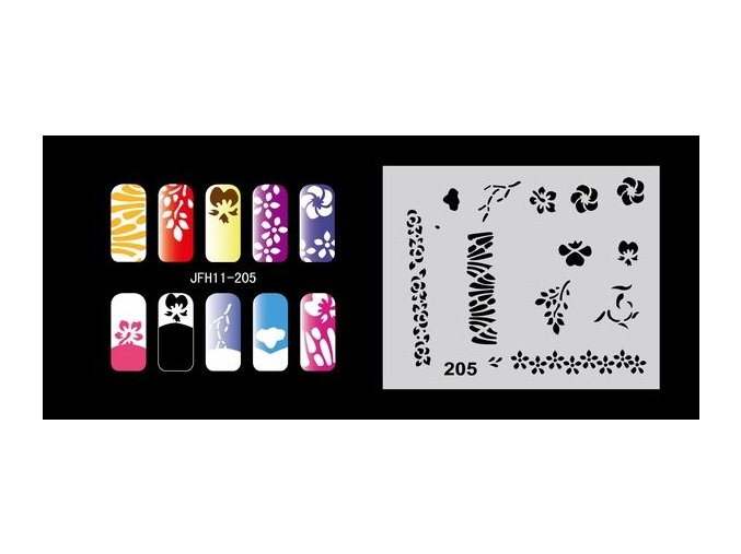 Fengda  JFH11-205 (airbrush nail art) körömsablon