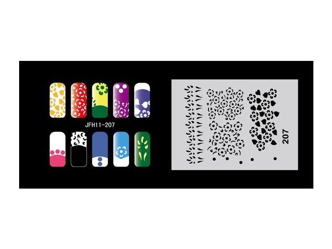 Fengda  JFH11-207 (airbrush nail art) körömsablon