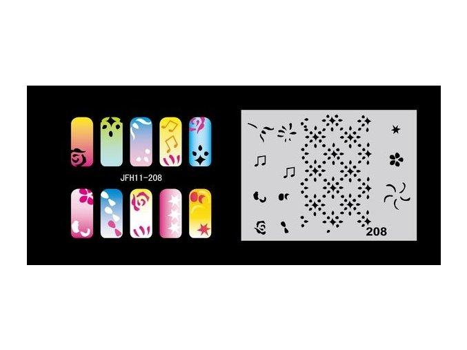 Fengda  JFH11-208 (airbrush nail art) körömsablon