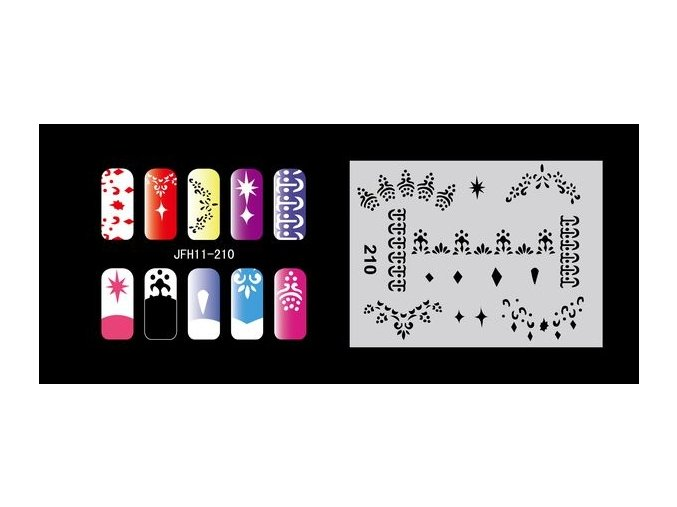 Fengda  JFH11-210 (airbrush nail art) körömsablon