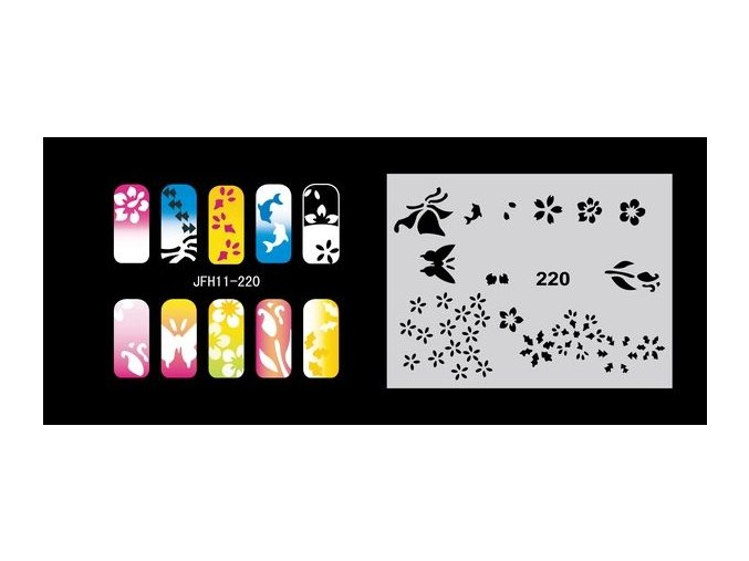 Fengda  JFH11-220 (airbrush nail art) körömsablon